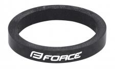 Force 5 mm stūres distanceris karbona melns