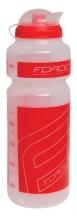 Force 750 ml pudele caurspīdīga/sarkana ar vāciņu (W)