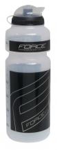 Force 750 ml pudele caurspīdīga/melna ar vāciņu (W)
