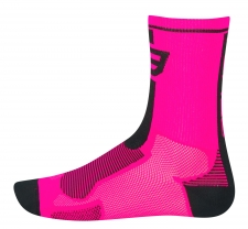 Force Long sporta zeķes rozā/melnas