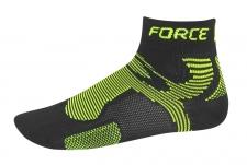Force Two zeķes melnas/zaļas