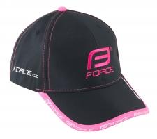 Force cepure melna/rozā