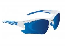 Force Ride Pro sporta brilles baltas/zilas