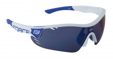 Force Race Pro sporta brilles baltas/zilas