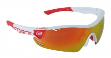 Force Race Pro sporta brilles baltas/sarkanas