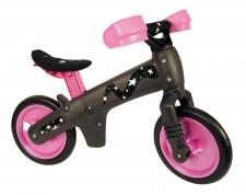 BELLELLI Bērnu līdzsvara velosipēds melns/rozā
