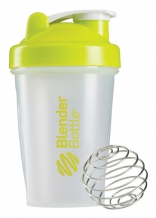 Blender Bottle Classic Transparent zaļš šeikeris 590ml