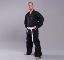 Tornado Self Defense Canvas 12 oz melns karate kimono (W)