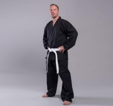 Tornado Self Defense Canvas 12 oz melns karate kimono (W)