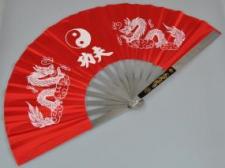 Phoenix Kung Fu sarkans vēdeklis metāla