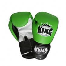 King BGK 9 10OZ boksa cimdi zaļi