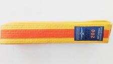 Phoenix kimono josta dzeltena ar oranžu strīpu (X)