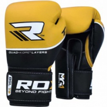 RDX QUAD-KORE Leather Training BGL-T9 boksa cimdi dzelteni (X)