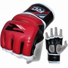 RDX Leather-X Training MMA cimdi sarkani