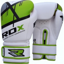 RDX QUADRO-DOME Fitness BGR-F7 boksa cimdi zaļi