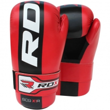 RDX New Semi Contact Gloves SCG-X1 boksa cimdi sarkani