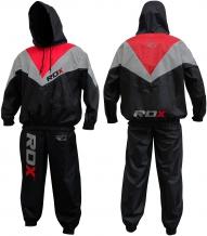 RDX Slimming Pro Weight Loss sauna garais tērps melns/pelēks/sarkans (X)
