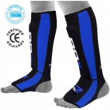 RDX NEO PRENE SHIN INSTEP zili/melni kāju aizsargi (X)