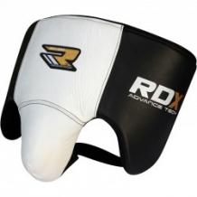 RDX GROIN GUARD balts/melns ādas cirkšņu aizsargs