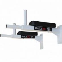 RDX IRON PADDED PULL UP BAR balts HEAVY stiprinājums (X)