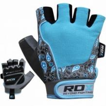 RDX Gym Glove Amara fitnesa cimdi zili/pelēki (X)