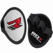 RDX Leather Weight Lifting Grips Pad fitnesa cimdi sudraba