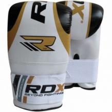 RDX BOXING BAG MITTS boksa cimdi balti/zelta