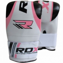 RDX BOXING BAG MITTS boksa cimdi rozā/balti