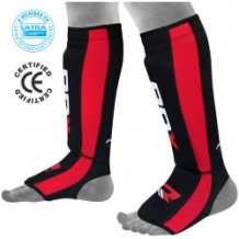 RDX NEO PRENE SHIN INSTEP sarkani/melni kāju aizsargi (X)