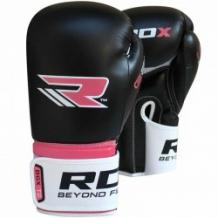 RDX BGR-F2 boksa cimdi melni/rozā