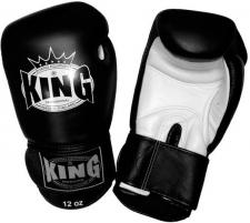 King boksa cimdi melni/balti