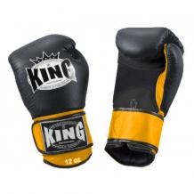 King Air boksa cimdi melni/dzelteni