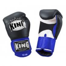 King Air boksa cimdi melni/zili/balti