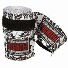 Fighter kokvilnas boksa saites melnbaltas