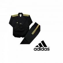 Adidas Taekwondo DOBOKI CHAMPION COLOR ( 3 STRIPES ) melns/zelta