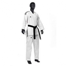 Adidas Taekwondo DOBOKI CHAMPION OPEN DOBOKI (3 STRIPES) balts/melns (X)