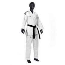 Adidas Taekwondo DOBOKI CHAMPION OPEN DOBOKI (3 STRIPES) balts/melns (X)