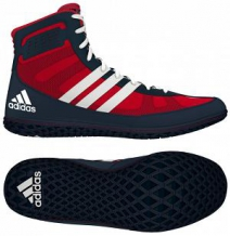 Adidas Mat Wizard 3 cīņas apavi zili/sarkani