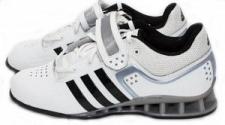 Adidas Adipower svarcelšanas apavi balti/melni (W)