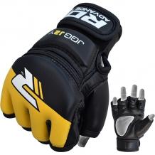 RDX Leather-X Kids MMA cimdi bērniem melni/dzelteni