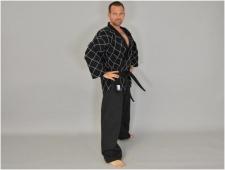 Budo's Finest Hapkido kimono melns/balts (W)