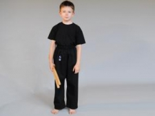 Phoenix Basic karate/tradicionālās kimono bikses melnas (W)