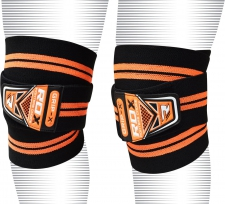 RDX fitnesa kāju saites melnas/orandžas