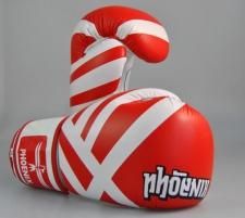 Phoenix Thai boksa cimdi Sarkani/Balti