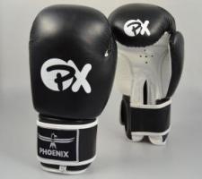 Phoenix PX ādas boksa cimdi melni/balti (W)