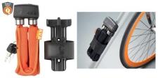 Saslēdzējs AXA FOLDABLE 6.5mm. x 95cm. (Oranžs) (W)