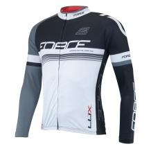 Force Lux velo krekls ar garām rokām melna/balta