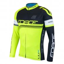 Force Lux velo krekls ar garām rokām melna/elektro zaļš