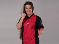 Budo Finest kikboksa krekls elastīgs sarkans/melns (W)