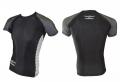 PHOENIX Rashguard krekls ar īsām rokām melns/pelēks/balts